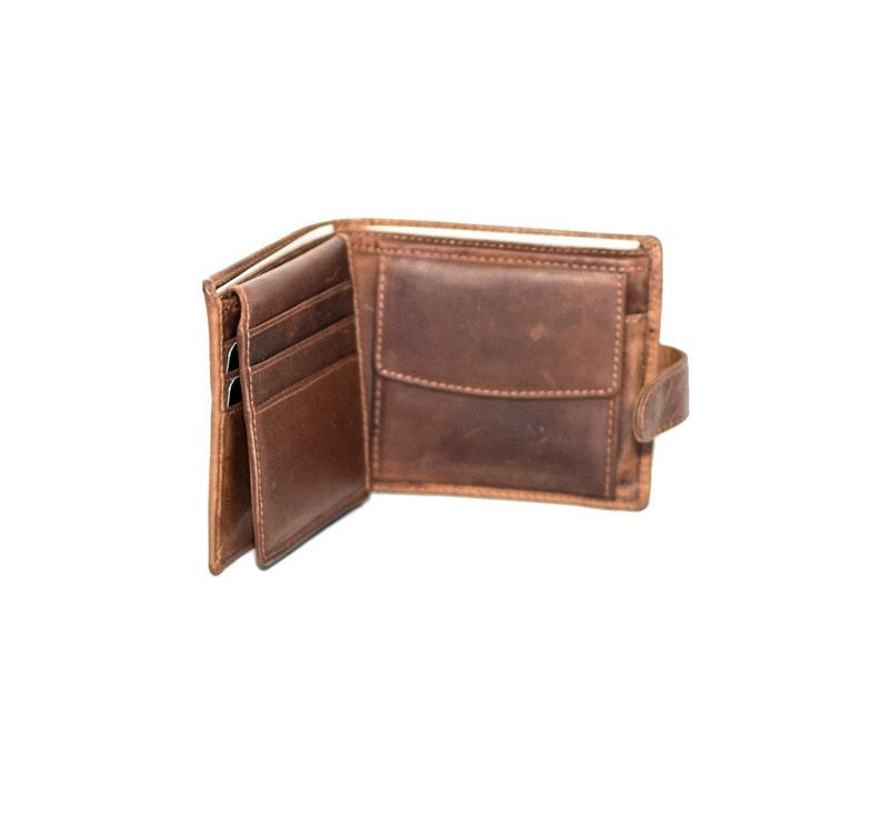 Money Bag Soft Brown Leather Wallet /& Card Holder