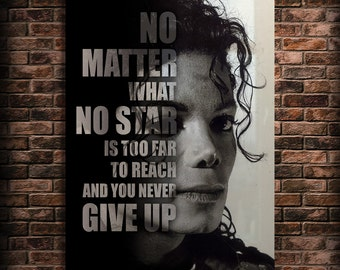 Michael Jackson Art Famous People Quotes Print