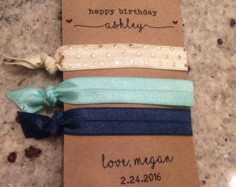 Digital Cards for Hair Tie Favors