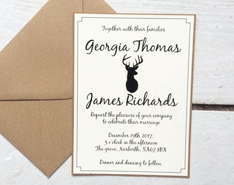 Rustic winter wedding invitation, rustic wedding, winter wedding, invitation suite