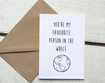 Cute anniversary card, romantic card, card for wife, card for husband, quote card