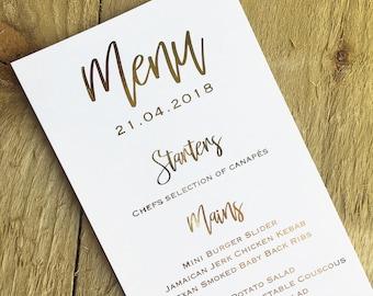 elegant menu etsy