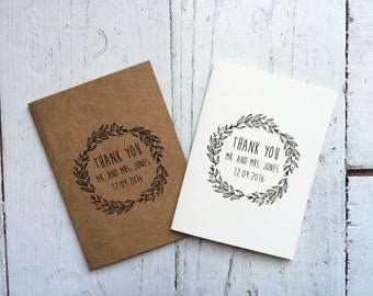 Rustic wedding thank you cards, personalised thank you cards, rustic wedding, bohemian wedding
