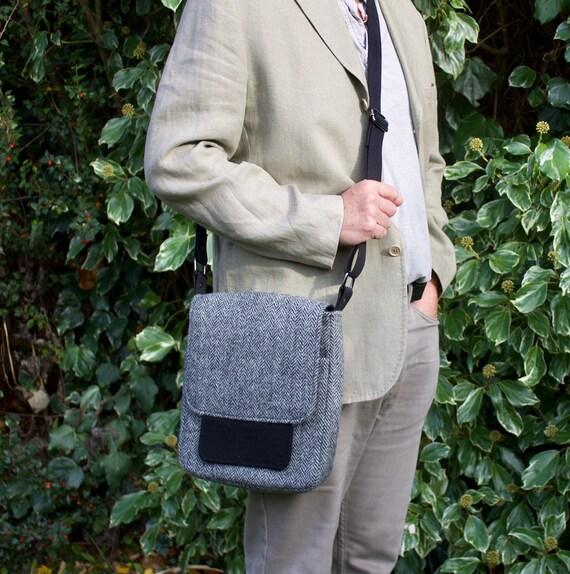 835157f6905e HARRIS TWEED messenger bag crossbody or shoulder laptop bag