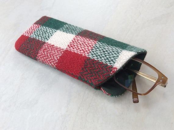 e35aa1803343 HARRIS TWEED glasses case spectacles sunglasses case green