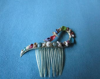 Colorful Seashell Hair Comb / Decorative Beach Hair Jewelry