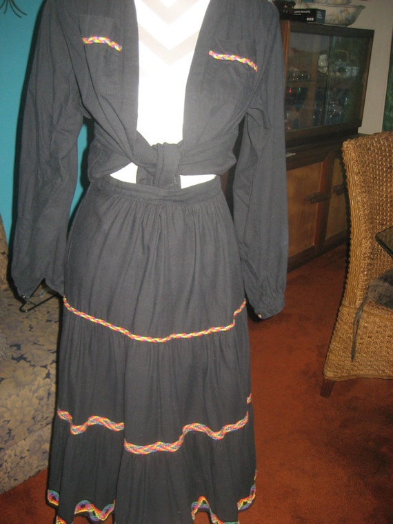 Vintage German Skirt with matching Jacket Blouse