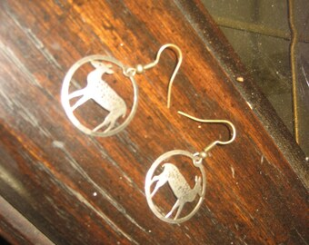 Deer/Doe/Fawn/Bambi Small Hoop Earrings