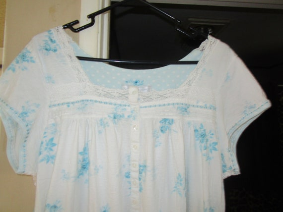 3578b95862 Earth Angels 100% Cotton Cute Little Short Nightgown Size