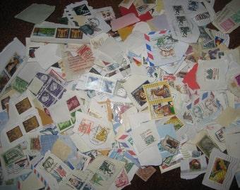 400 Vintage Postage Stamps Grab Bag - Worldwide & USA