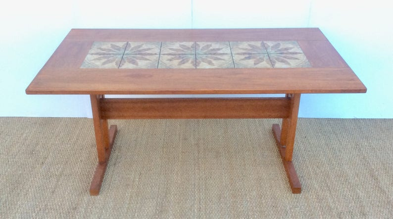GANGSO Danish Teak Dining Table With Tiled Top , 1960,s