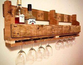 reclaimed wood wine rack, wine rack, pallet style wine rack, wooden wine rack, wall mounted wine rack, rustic wine rack,