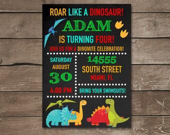 Dinosaur Invitation, Dinosaur Birthday Invitation, Dinosaur Invite, Dino Birthday, Dinosaur Party, Dino Invitation, Dinosaur Invite