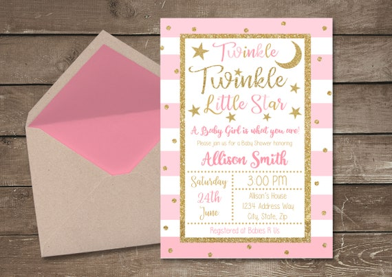 Twinkle twinkle little star baby shower invitation twinkle etsy image 0 filmwisefo
