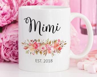 Mimi to be Mug, Mimi Mug, Mimi Gifts for Mimi, Pregnancy Announcement Grandparents Pregnancy Reveal to Grandparents, Grandmother Grandma Mug
