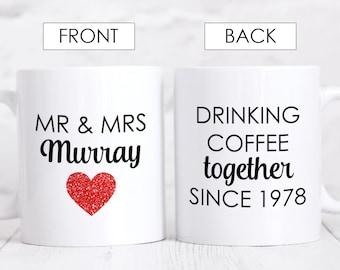 40th Anniversary Gift for parents, 40th Ruby Anniversary Mug, Personalised Wedding Anniversary Gift, Custom 40th Wedding Anniversary Gift