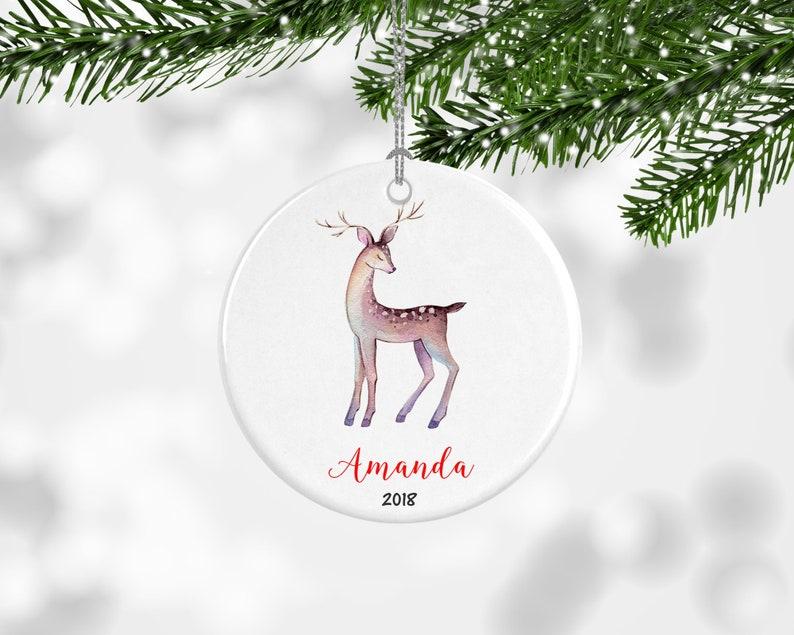 Kids Christmas Ornament Personalised Christmas Ornaments Custom Name Ornament Deer Tree Ornament Childrens Name Custom Name Decoration