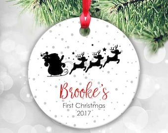 Baby's First Christmas Ornament Baby Ornament, Personalized Christmas Ornament for Baby Girl Baby Boy, Baby's 1st Christmas, Newborn Gift