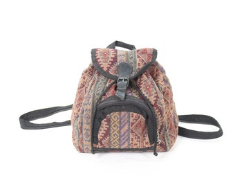 b74d9fd7447 Vintage • Fabric Bag • Backpack • Colored Backpack • Women s Backpack •  Unisex Backpack • Mod • Classic • Men s Backpack • Festival Backpack
