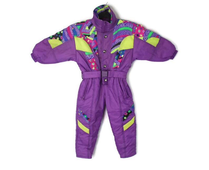 80s Purple Retro Kids Snow Suit Size 4 \u2022 Vintage Kids One Piece Ski Snow Suit \u2022 Hipster Kids Ski Jumpsuit \u2022 Hipster Snow Suit \u2022 104 4T 4Y