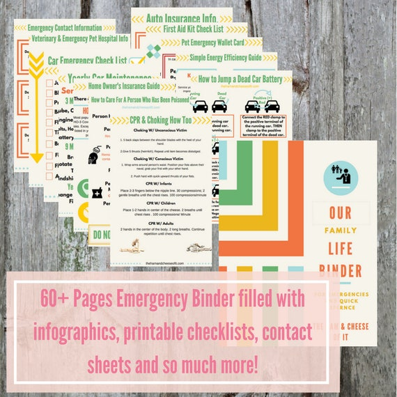 photograph about Printable First Aid Guides called PDF Printable Unexpected emergency Binder Babysitter Reference Advisor Electronic Down load Residence Control Printable PDF Obtain Canine Stability