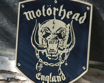 Brass MOTÖRHEAD Patch Brooch Pin,Motorhead  Hawkwind Lemmy Led Zeppelin Twisted Sister RARE!!!