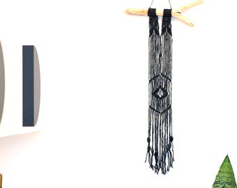 Mini Black Macrame