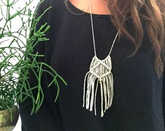 Macrame Necklace |Hitch Neckace|