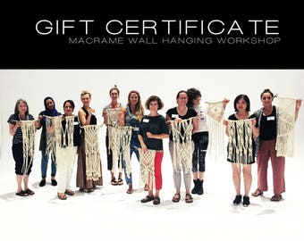 GIFT CERTIFICATE| Macrame Wall Hanging Workshop