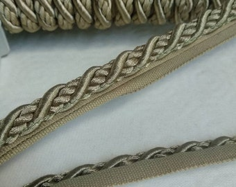 Terracotta twisted Flanged piping cord Fabric trimming material trim PER METRE