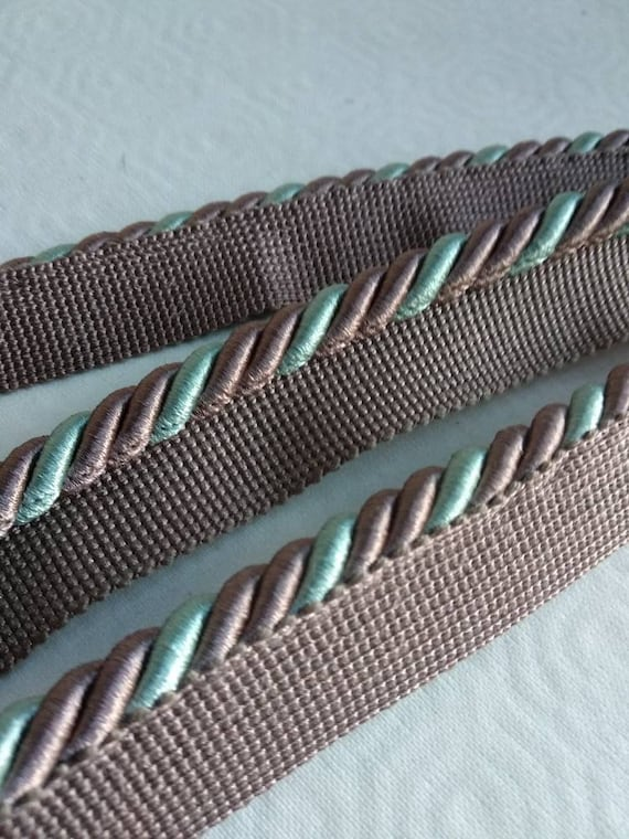 Sewing-Dressmaking-Trimming-Decoration-Upholstery FLANGED PIPING CORD 7 Colours