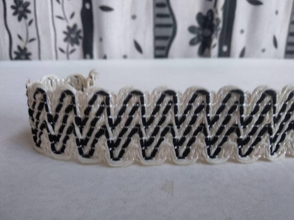 Cotton black natural wide Braid 3cm fringe trimming braid upholstery trim braid gimp curtains upholstery braid
