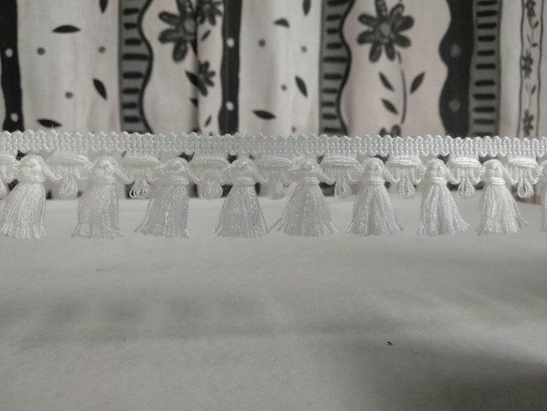 50 meter value pack ivory Tassel fringe trimmings|3 cm width|Curtains,Upholstery,Cushions decoration tassel bullion fringe trims!