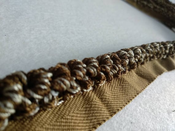 3MM FLANGED PIPING CORD NAVY BROWN BEIGE TRIMMING