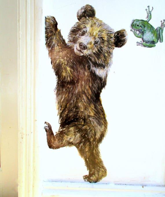 Bear Wall Decal Woodland Animal Decals Woodland Nursery Etsy