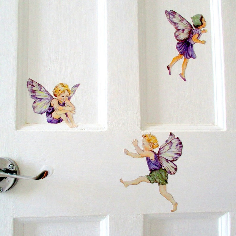flower fairy wall decals fairy wall stickers fairy bedroom | etsy