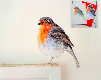 Robin card, Father's day card, robin card, bird lover, robin wall decal, spring card, every day card, bird card, robin gift, blank bird card