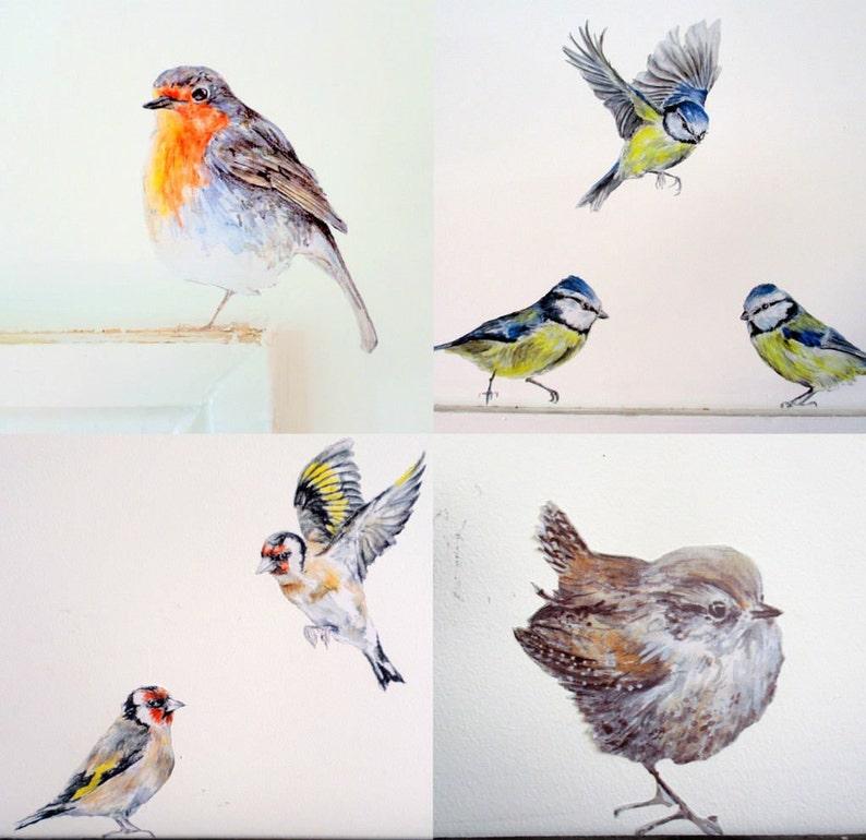 bird wall decals garden bird wall stickers nursery bird | etsy