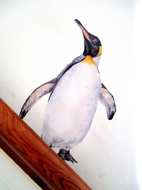penguin wall decal penguin lover gift penguin wall sticker | etsy