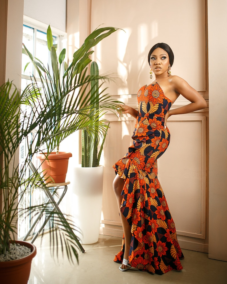 Ndi African Style Maxi Ankara Dress