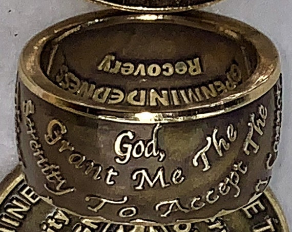 "Serenity Prayer ""Out"" Loud ~ Sunshine of the Spirit of God ~ Recovery Ring"