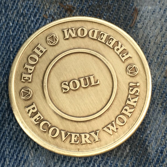 Recovery Works! Custom, Sobriety Medallion