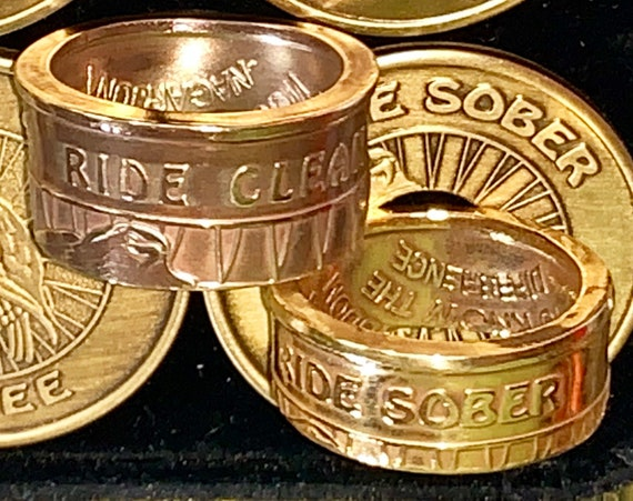 Ride Clean/Ride Sober ~ Ride Free Recovery Ring