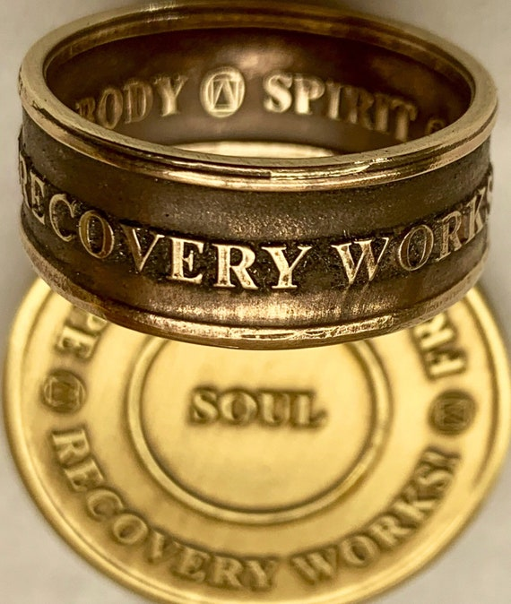 Recovery Works! Recovery Ring = 50% Sales of this Recovery Ring goes to Minnesota Recovery Connection's Walk for Recovery; Sober And Serious