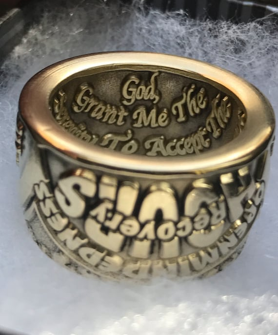24 Hour Sunlight of the Spirit of God ~ Serenity Prayer Recovery Ring
