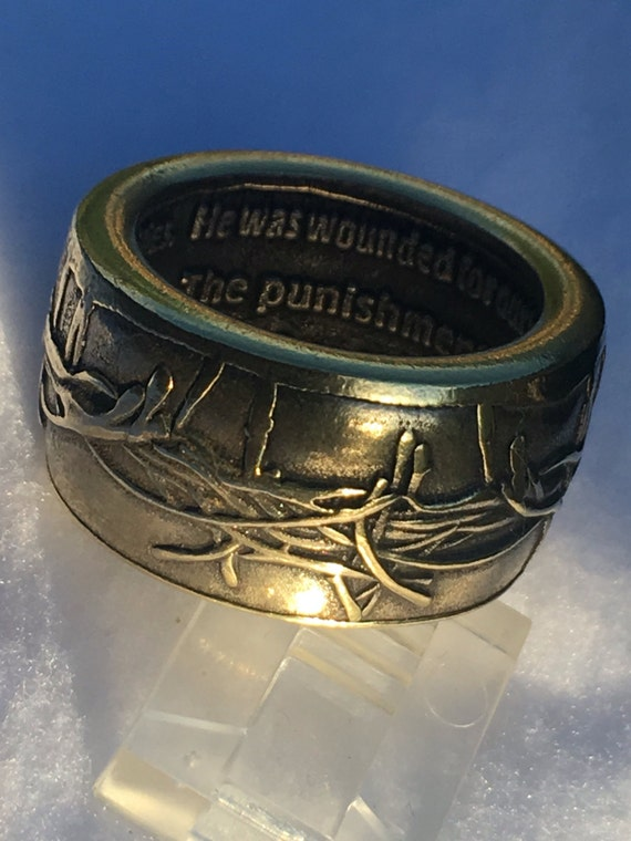 Crown of Thorns ; Isaiah 53:5 Recovery Ring