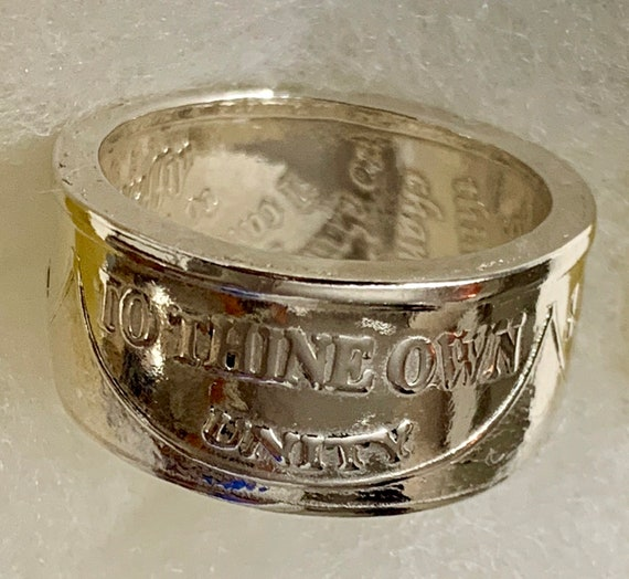 999 Fine Silver Recovery Ring (1/2 Ounce) Handcrafted from a Sobriety Medallion
