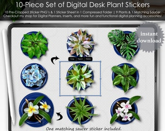 Neon Tablets Notes Stickers Kit Top View Desk Mockup Digital Planner Planning Precropped PNG Files Scrapbooking ClipArt Accessories Scene