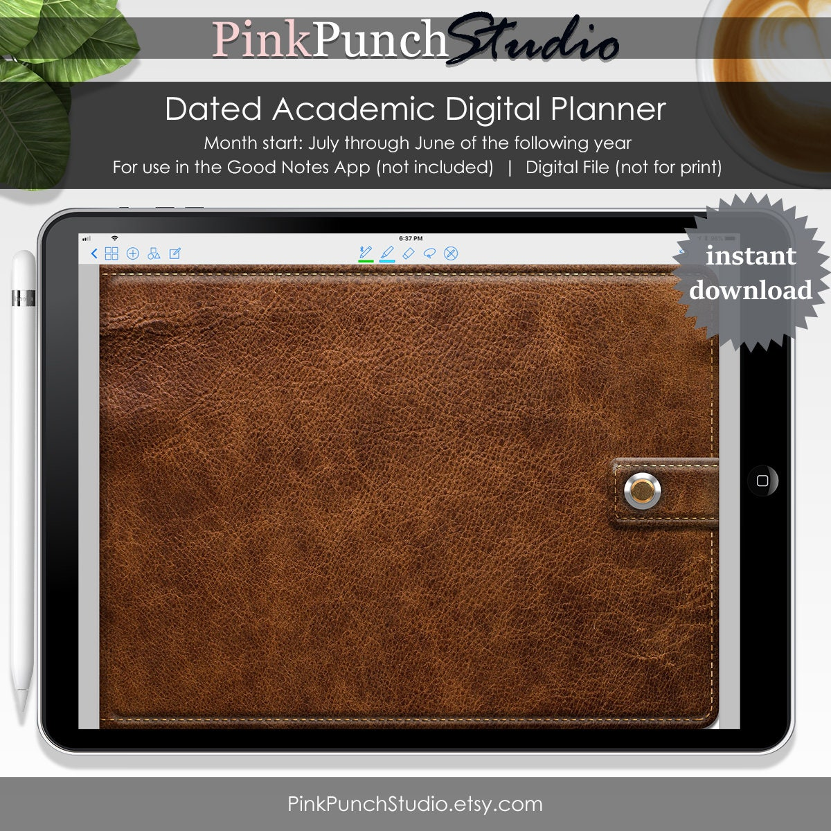 Academic Digital Planner for GoodNotes Functioning Clickable   Etsy