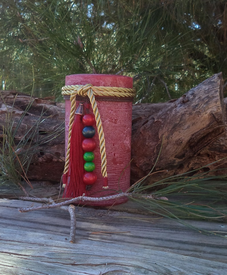Christmas decorations Christmas Decor Kitchen Dining rustic candles Christmas Candles PIllar Candle Christmas Gift